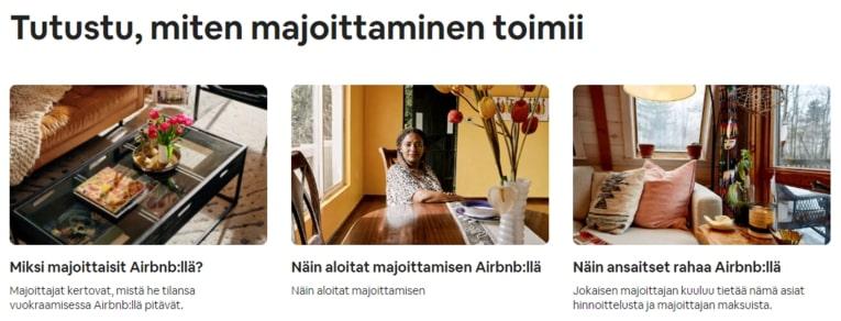 Airbnb-vuokraus