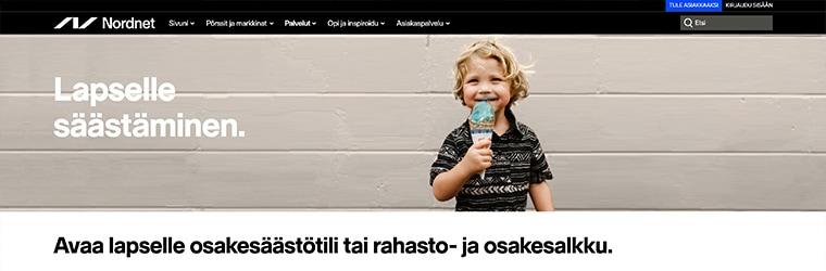 Nordnet - Osakesäästäminen lapselle
