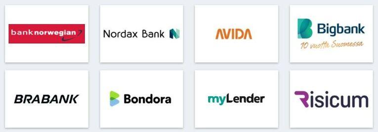 rahoitu.fi palvelun yhteistyökumppanit