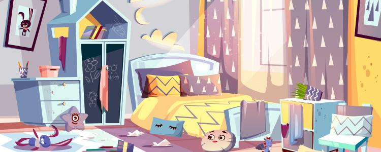 Tavaroiden karsiminen makuuhuoneesta